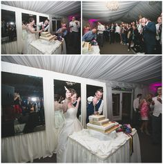 The cutting of the cake - using flash photography Ribbon Bouquet, Summer Wedding Colors, Floral Ribbon, Flash Photography, Wedding Styles, Photo Wall, Fotografie