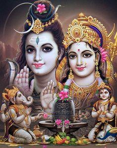 Lord Shiva Mathe Parvathi Ganesh and karthikey 🙏🙏😘 Lord Shiva Pics, Lord Shiva Hd Images, Lord Shiva Family, Shiva Parvati Images, Shiva Art, Mahakal Shiva, Durga Images, Hindu Art, Lord Shiva Hd Wallpaper