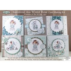 X Treme Hobbies Product Hobby House, Hobby Kits, Hobby Trains, Winter Rose, Hobbies That Make Money, Card Making Kits, Beautiful Handmade Cards, Card Patterns, Pretty Cards