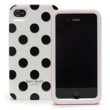 polka dot iphone case (i'll cover up the logo)