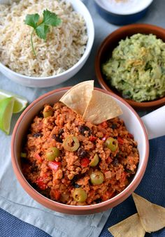 Vegan Tempeh Picadillo. I loved this!  Was a complex mix of flavours that went great over rice and in a taco.