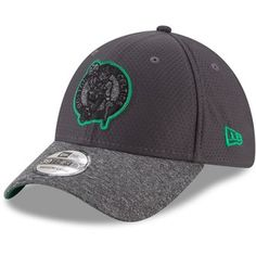 Boston Celtics New Era Popped Shadow 39THIRTY Flex Hat – Graphite 725d38f7a79