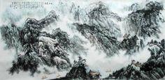 """Saatchi Art Artist Han Wang; Painting, """"Cloud on Xiajiang River"""" #art"""