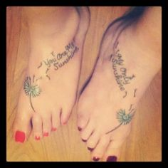 Mother daughter tattoo. My mom and I. Happy birthday mom!