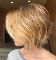 Butter Blonde Razored Bob For Fine Hair