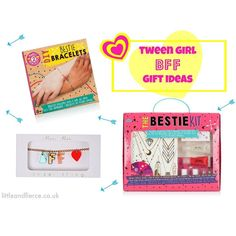 New on our blog Being Little and Fierce we're sharing our gifts for tween BFFs (that's 8-12 year old girls and their best friends to you and me )