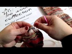 Remallado de calcetines. Grafting socks. Http://www.thewoolcollection.com - YouTube