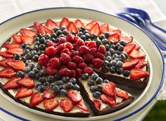 Brownie 'n Berries Dessert Pizza by Betty Crocker Recipes, via Flickr