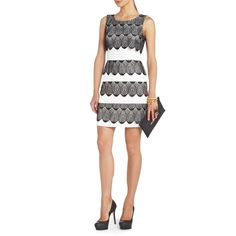 Saw this dress in Lord & Taylor today - LOVE IT.  Black and white is so classic and the scallop detailing gives it a feminine touch.  BCBG.