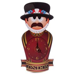 Beefeater Ted Smith Shaped Picture Clock #clock #London #homedecor #giftware