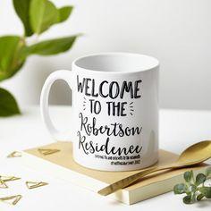 Personalised 'Welcome' Mug