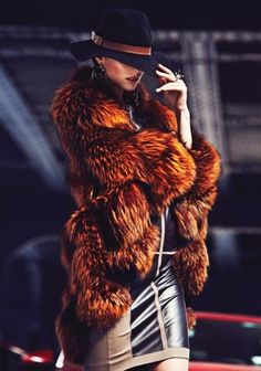 The Fur and the hat ONLY! the dress nope.