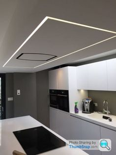 65 Modern & Contemporary Led Strip Ceiling Light Design 65 & The LED Modernizing the house or office with LED panel lights in place of old fluorescent ceiling lights is a simple and quick method to save on power. Track Lighting Bedroom, Interior Lighting, Home Lighting Design, Ceiling Light Design, False Ceiling Design, Ceiling Ideas, Ceiling Plan, Linear Lighting, Strip Lighting