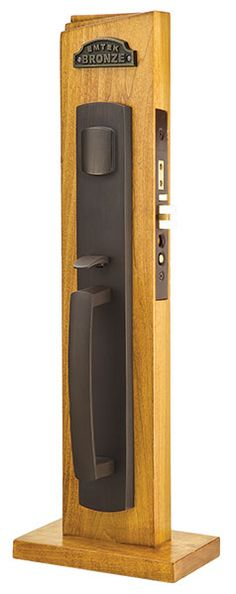 Entry Brighton In Flat Black With Round Knob Rustic
