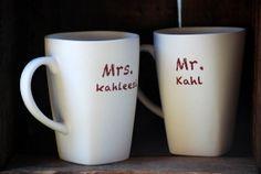 Mr and Mrs mug set kahl kahleesi game of thrones by 2ndstop, $28.00