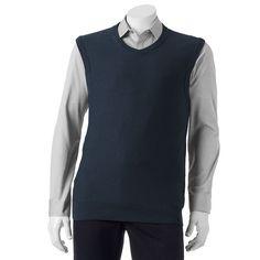 Men's SONOMA Goods for Life® Classic-Fit Fine Gauge Textured Sweater Vest, Size: