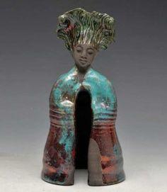 Turquoise-Red-Copper-Raku-buddha-Anita-Feng
