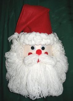 This is a guide about making a bleach bottle Santa. Clean plastic bleach and detergent bottles are great to use in craft projects. Make this cute Santa for the holidays. I made one years ago and still use it! Christmas Arts And Crafts, Santa Crafts, Christmas Projects, Holiday Crafts, Christmas Crafts, Christmas Ideas, Holiday Ideas, Christmas Stuff, Holiday Recipes