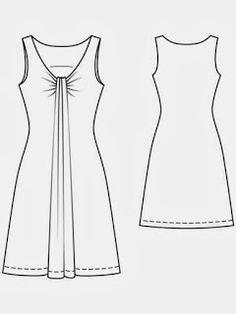 Mujeres y alfileres: Moldes para imprimir de remera y vestido de Burda 02/2013