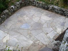 hand-cut bluestone patio