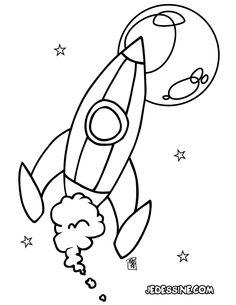 Coloriage d'une fusée spatiale