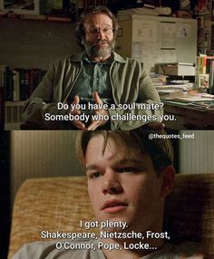 BROTHERTEDD.COM Best Movie Lines, Good Will Hunting, Films, Movies, Challenges, Fictional Characters, Instagram, Cinema, Cinema