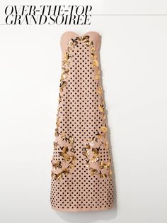 Delpozo hand-embroidered strapless dress with slide slit in nude crepe, price upon requestFor information: delpozo.com. The Wedding Guide 2013, VOGUE.