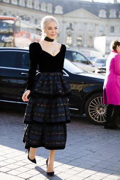 Street Style образы на Неделе Моды haute couture - читайте на pre-party.com.ua
