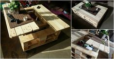 The Best DIY Wood & Pallet Ideas - everything from home decor, garden, storage, patio furniture, and outdoor easy to make ideas! Palette Design, Palette Diy, Recycled Pallets, Wood Pallets, 1001 Pallets, Pallet House, Pallet Bar, Pallet Benches, Pallet Tables