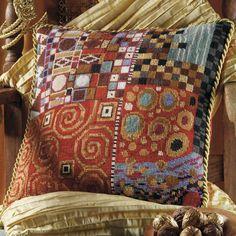 Klimt: Mandarin by Candace Bahouth, Ehrman wools, http://www.ehrmantapestry.com/Products/Klimt--Mandarin__KLM.aspx#.UUOe8VeZFLo