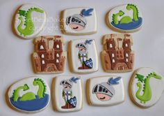Knights and Dragons. Wowzers! via SweetBella Bakery