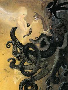 The Little Mermaid illustration by Nadezhda Illarionova