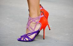 Pierre Hardy | tricolor strappy cage sandal
