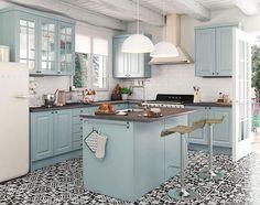 Kitchen Pantry Design, Kitchen Paint, Kitchen Tiles, Kitchen Decor, Kitchen Cabinets, Victorian Kitchen, Small Space Kitchen, Scandinavian Kitchen, Home Kitchens