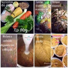 Combinações de ingredientes para papinha balanceada | Mamãe Plugada