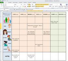 Modèle de calendrier familial d'une famille Planning Sport, Time Timer, Family Command Center, Agenda Planner, Christmas Mood, Travelers Notebook, Filofax, Woodworking Plans, Budgeting