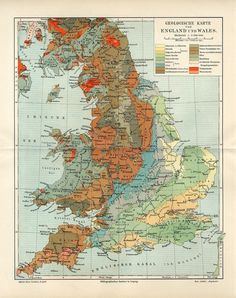 1899 England and Wales Geological Map