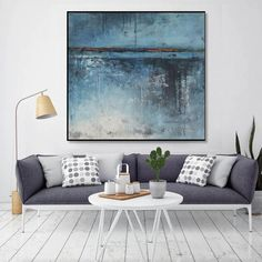 Large Blue Ocean Wave Art Decor Azure Ocean Surfing Ocean Photography Seascape Canvas Ocean Canvas A Large Canvas Wall Art, Extra Large Wall Art, Canvas Art Prints, Canvas Frame, Rooms Home Decor, Home Wall Decor, Art Decor, Lotus Kunst, Grand Art Mural
