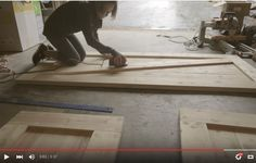 Let's kick this week off with a new tutorial, shall we? I built these doors back in the beginning of March—you may remember seeing a timelapse video of the process in Episode 7 of my vlog ser… Sliding Door Design, Diy Sliding Barn Door, Double Barn Doors, House Doors, Room Doors, Diy Barn Door Plans, Laundry Doors, Barn Door Designs, Barn Door Track