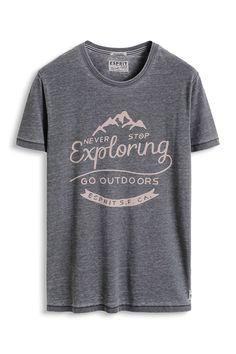 www.davidemartini.ink for Esprit - Jersey T-Shirt mit Print, Baumwoll-Mix im Online Shop kaufen