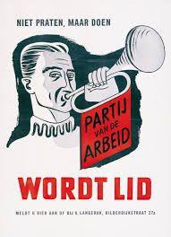 Afbeeldingsresultaat voor pvda posters