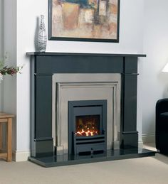 Fireplaces | Agnews Flat Victorian Black Granite Fireplace | Direct Fireplaces £659