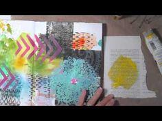 Art Journal Process Distress Paint Backgrounds - YouTube
