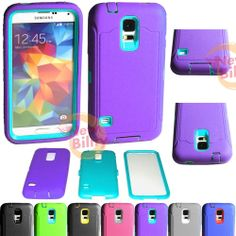 Samsung Galaxy S5 Shock proof Rugged Rubber Impact Hard Hybrid Case w/Screen #genericnototterboxdefendercommuterarmor