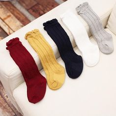 2017 Newborn Toddler knee high sock baby Girls Boys Solid Long Socks For Toddler Girl Clothing Accessories Baby Girl Socks, Girls Socks, Baby Girls, Baby Boy, Baby Shoes, Toddler Girl Outfits, Toddler Fashion, Kids Outfits, Toddler Knee High Socks