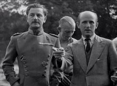 Anton Walbrook on set. The Life and Death of Colonel Blimp