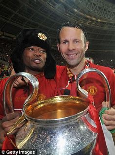 The French defendermade 379 appearances and won the Champions League (left) in 2008