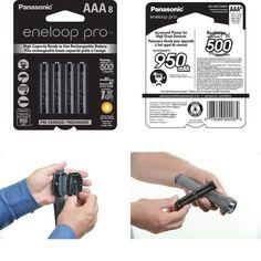 AAA Rechargeable Batteries Eneloop-Panasonic High Capacity Ni-MH (950mAh) 8 Pack #Panasonic Ebay, Appliances