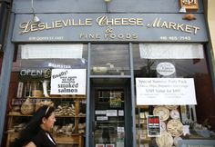 The Leslieville Cheese Market Storefront Toronto Neighbourhoods, Store Fronts, Cheese, Dishes, Marketing, Ontario, Shops, Spaces, Engagement