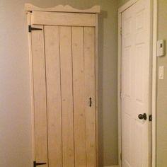 Faux armoire into walk-in closet.